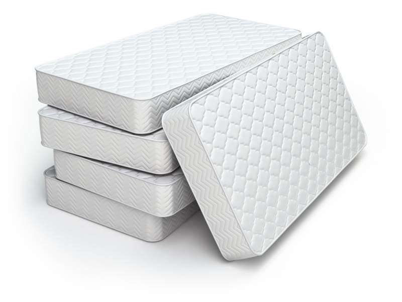 white-mattress-isolated-on-white