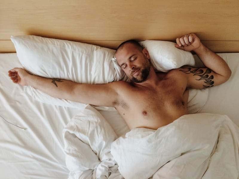 Wake up time man sleeping